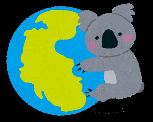 世界を掌握するコアラ