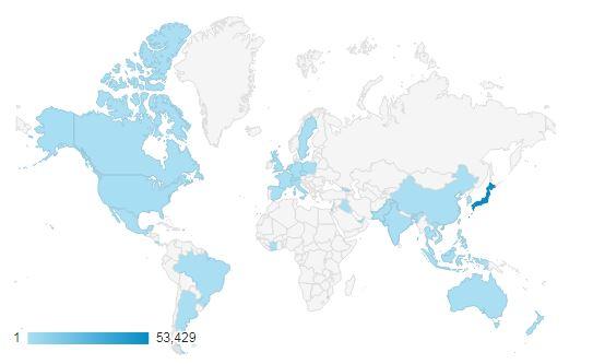 【googleアナリティクス】世界のみんなありがとう!【Thank you everyone in the world!】